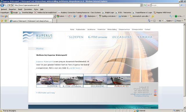 Screenshot www.kuperuswatersport.nl